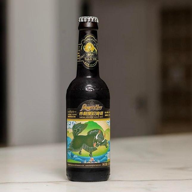 "Introducing the award winning beer "" Black Yak"" from Shangrila beer a taste of Caramel and coffee #shangrilabeer #beer #tuscanywine #torcianowinery #28wilkie #28wilkiebarandrestaurant #28wilkieshangrilabeer#burpple"