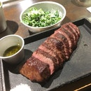 Short Rib Steak. With Cream Kale.