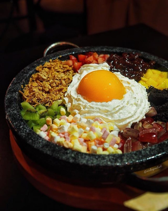 Bingsu dressed as bibimbap ($28) makes a more interesting rendition of bingsu.