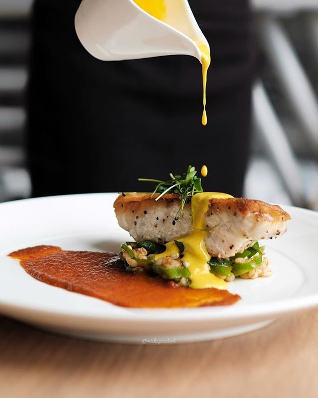 Pan-seared red-spotted grouper (S$28).