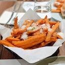 Sweet Potato Fries 😋 .