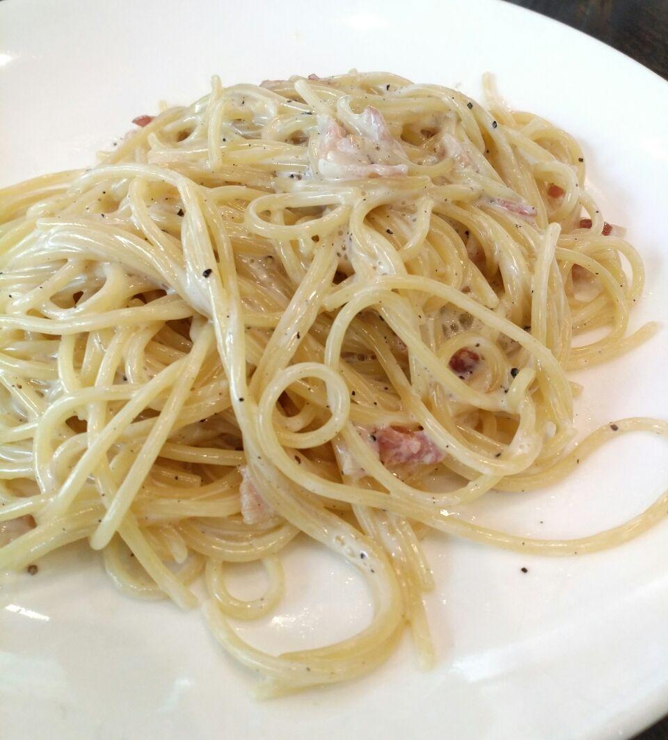 Homemade Carbonara Tagliatelle (?)