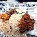 Beef Rendang Nasi Lemak $9.90  Love the good mix of fluffy basamati rice with savoury achar and crunchy ikan bilis.