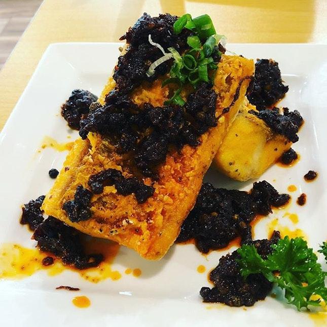 Deep fried fish with sambal chilli.