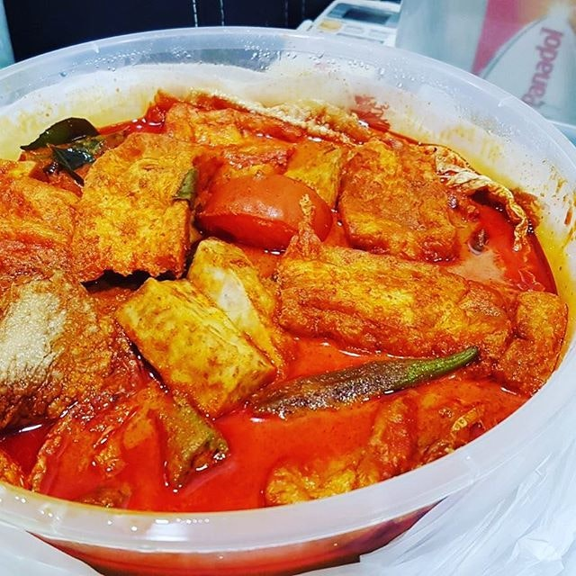 Very popular Fish head curry at $35.