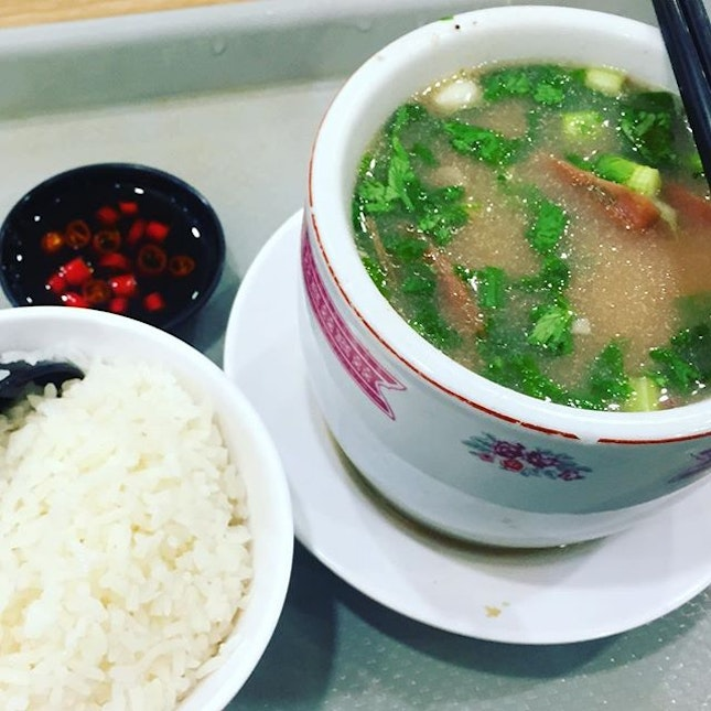 #lotussoup #withporkribs #foodjunction one of the best soups around.