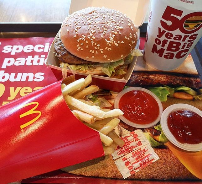50 years of Big Mac @mcdsg😍😍😍