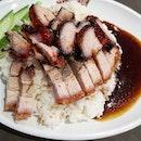 Char Siew Roasted Pork Rice 😍😍😍 Never expect the taste will be 👍👍👍👍👍👍 #charsiew#roasted#pork#sataybythebay