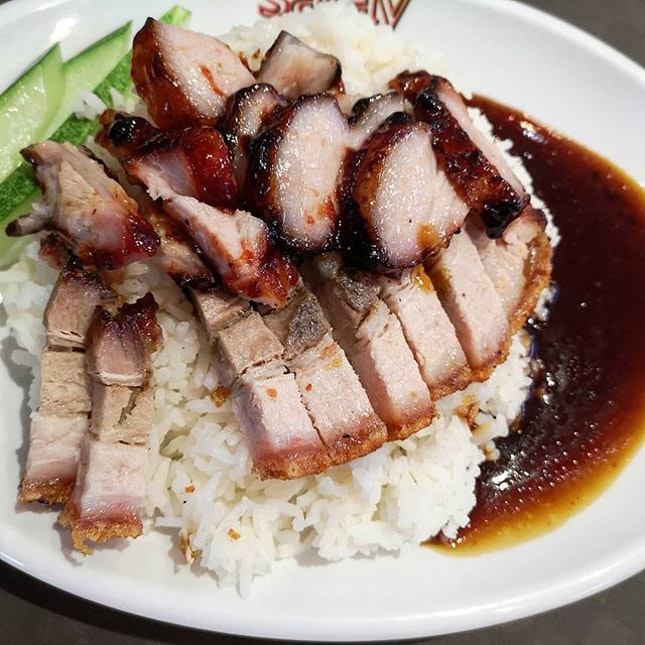 Char Siew Roasted Pork Rice 😍😍😍 Never expect the taste will be 👍👍👍👍👍👍 #charsiew#roasted#pork#sataybythebay