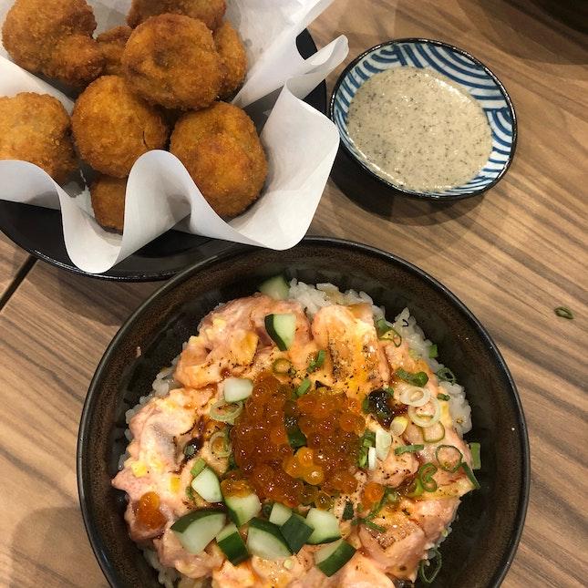 Mentaiko Salmon Sashimi Don ($18.90)