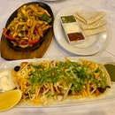 Chicken Fajitas ($25), Chicken Tacos ($5)