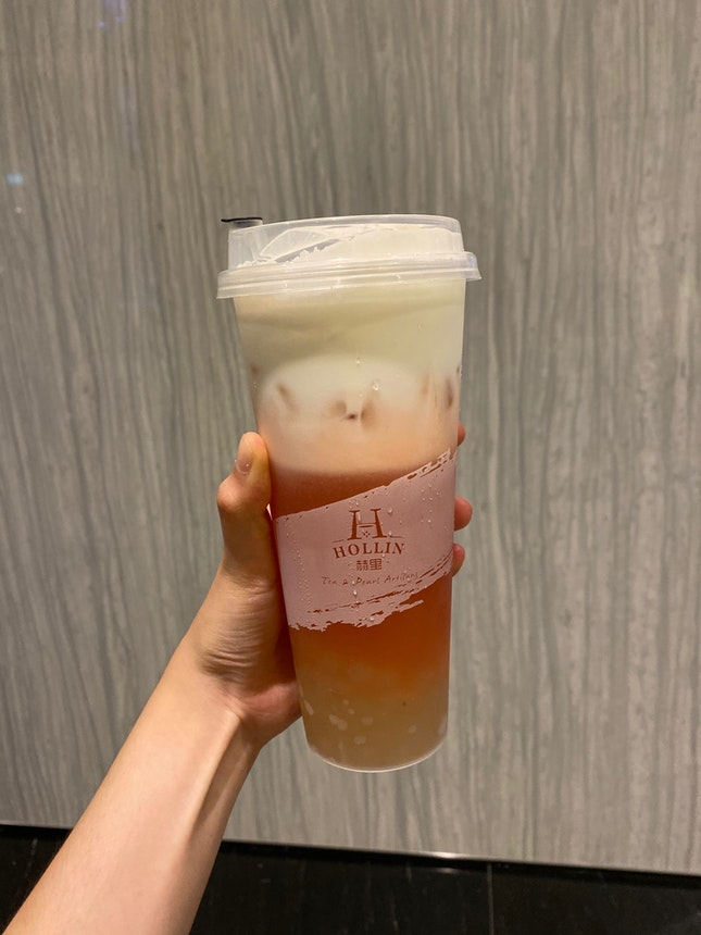 Pink Guava Macchiato With Honey Pearls