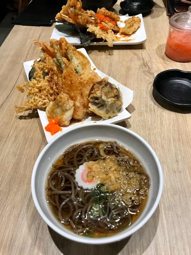 Mixed Tendon With Soba