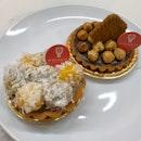 Kaya Ondeh Tart & Hazelnut Chocolate Tart
