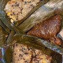 Grain Dumpling With Cordyceps Flower ($8.80) & Cantonese Pork Dumpling ($13.80)