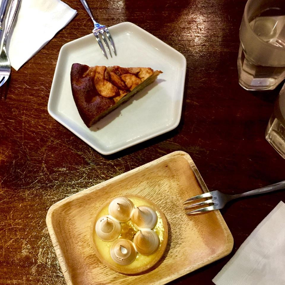 Honey Apple Cake Without Ice Cream & Lemon Tart