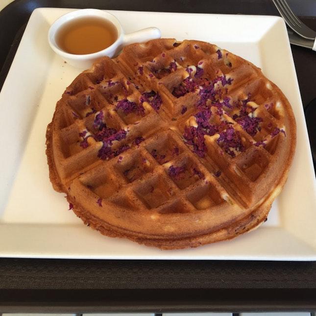 Purple Sweet Potato Waffle