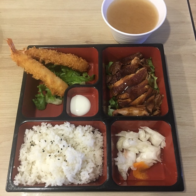Teriyaki Chicken Tempura Prawn Set
