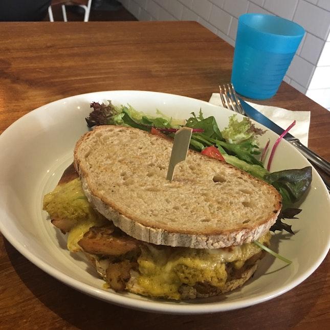 Chicken & Broccoli Cheese Stacked Sandwich