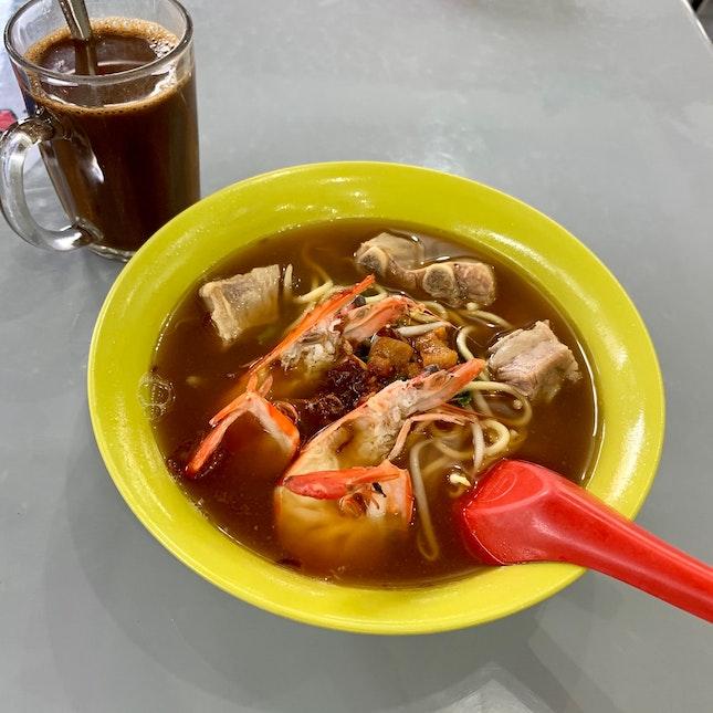 Pork Ribs Prawn Mee Soup