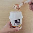🇸🇬 Dinosaur McFlurry ($2.90) - Vanilla Ice-Cream, Milo Powder, Chocolate Malt and chocolate crunch.