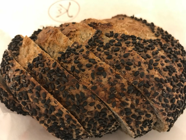 Black Sesame Sourdough Rye Bread