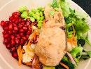 Cauliflower And Broccoli Pomegranate Salad