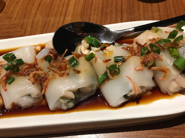 Preserved Vegetables And Chicken Rice Rolls