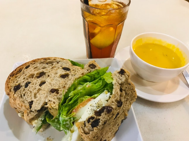 Lunch Set ( Egg Mayo Sandwich 🥪)