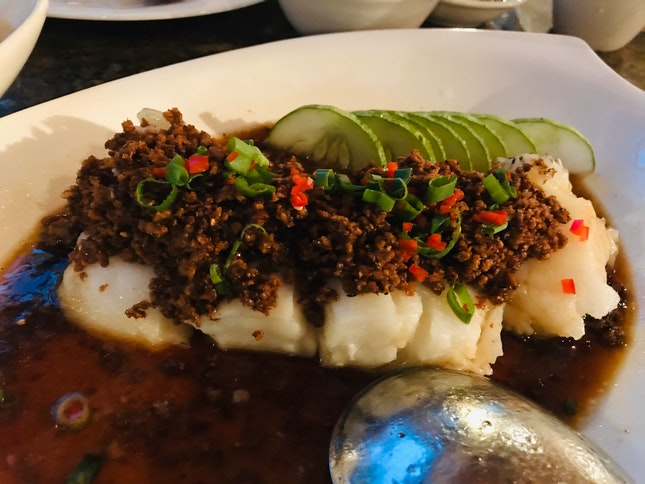 Steamed Sea Perch In Soy Crumbs