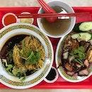 Braised Chicken, Roast Pork & Char Siew Noodles