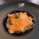 Smoked Salmon Spaghetti Aglio e Olio