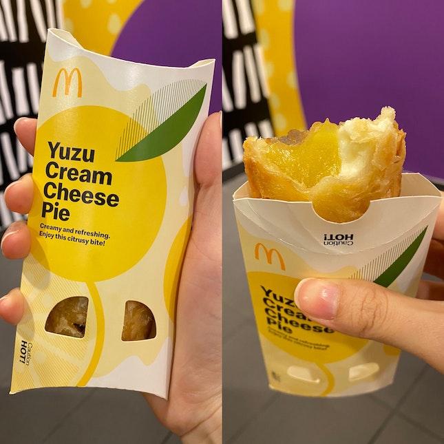 Yuzu Cream Cheese Pie