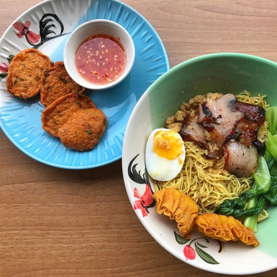 Thai version of wanton noodles