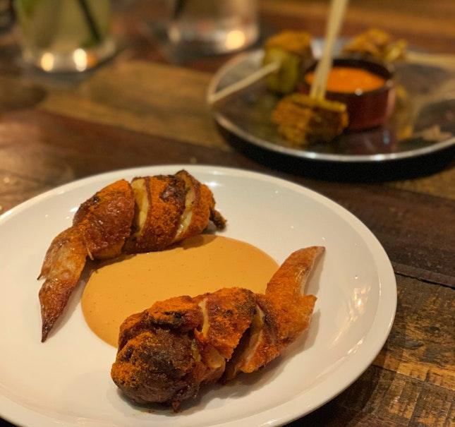 Tandoori Chicken Wings ($10)