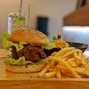 Har Cheong Gai Burger ($15)