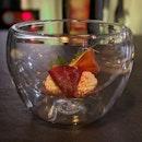 Beetroot and breasola with hazelnut mascarpone ($98++ Set Menu).