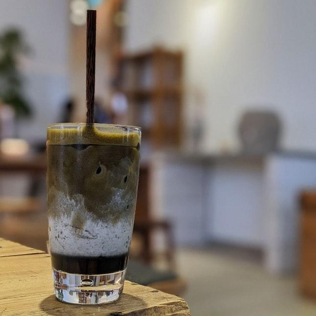 Hojicha Goma Latte