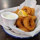 Golden Battered Calamari Rings ($10.50)