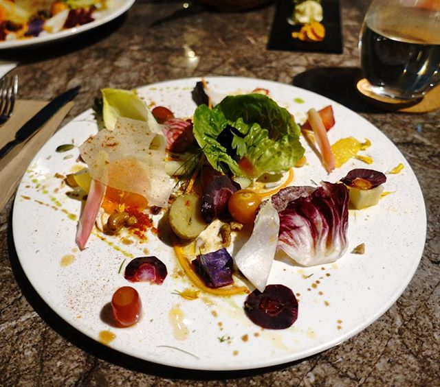 Our first course was the Minden Road 30 components salad.