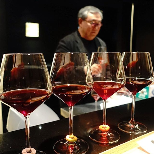 Iggy lined up a flight of four wines for us from the same vintage year, 2004.
