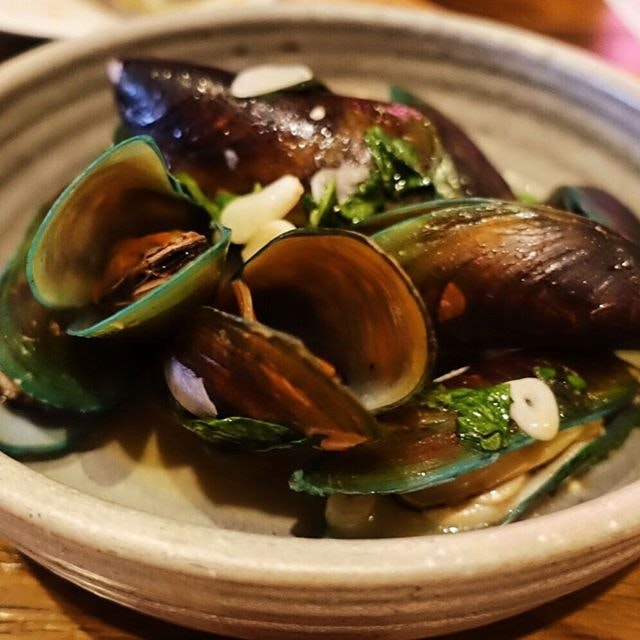 Mussels done in a East meets West kind of way.