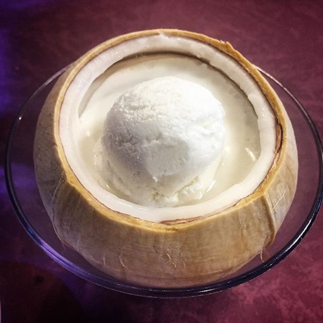 The coconut jelly and coconut ice cream marks the end of our wonderful meal today.