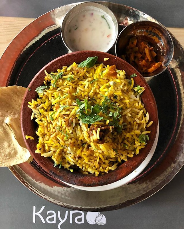 Back at Kayra for lunch because on Fridays, their special is the chicken biryani.