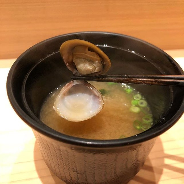 Shijimi clam miso soup.
