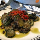 Cucumbers in olive vegetables