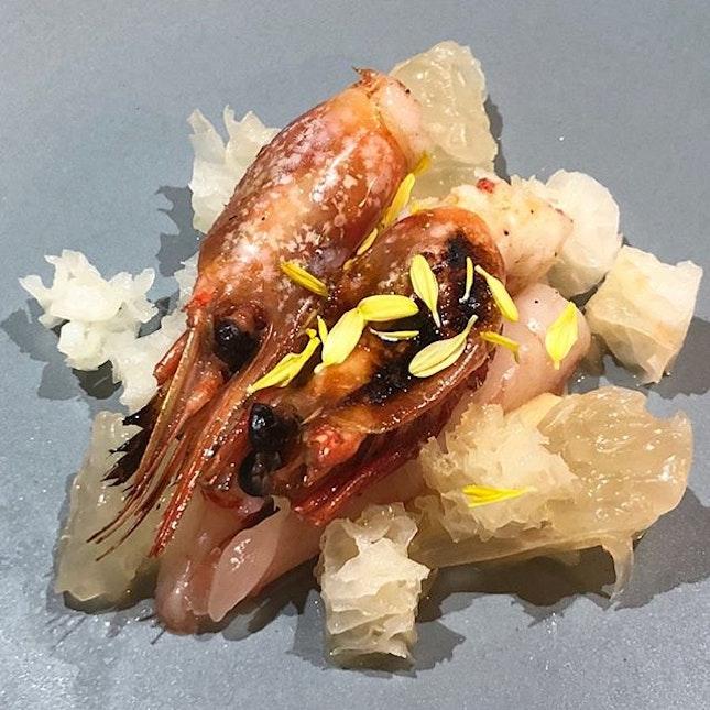 Amaebi, a favourite of mine, often at sushiyas.