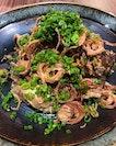 Eggplant salad & sesame dressing.