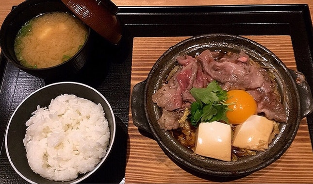 和牛すき燒き 定食 Wagyu Sukiyaki Teishoku