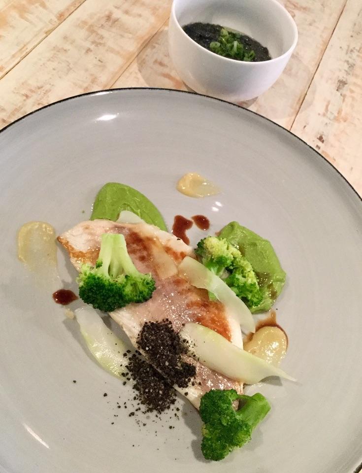 Steamed Mediterranean Seabream, Broccoli, Black Olive Powder, Fresh Citrus  $26
